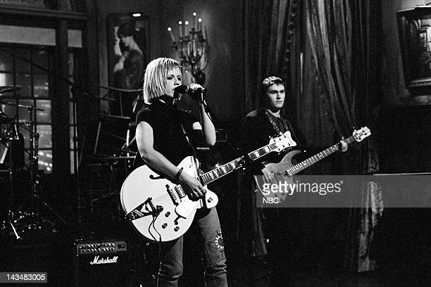 LIVE Episode 14 Air Date Pictured Dolores O'Riordan of musical guest The Cranberries perform on February 25 1995