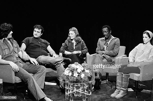 Bill Murray as Tony Orlando John Belushi as Robert Blake Jane Curtin Garrett Morris as Richard Pryor Gilda Radner as Claudine Longet during the...