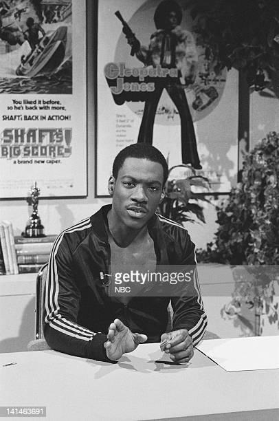 Eddie Murphy as Herschel Walker during the 'Saturday Night News' skit on February 26 1983 Photo by Alan Singer/NBC/NBCU Photo Bank