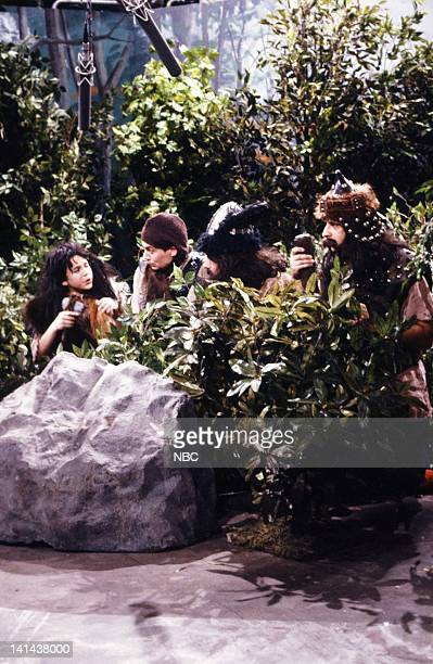 Fred Savage as Jasper Mike Myers as Lothar Phil Hartman Tyler Jon Lovitz as Grebno during the 'Lothar Of The Hill People' skit on February 24 1990...