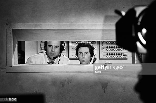 Kevin Nealon as technician Dana Carvey as technician during the 'Shuttle Launch' skit on February 24 1990 Photo by Raymond Bonar/NBC/NBCU Photo Bank