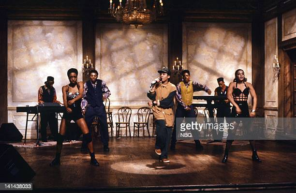 Manuela Ya Kid K Kamosi of musical guest Technotronic performs on February 24 1990 Photo by Raymond Bonar/NBC/NBCU Photo Bank