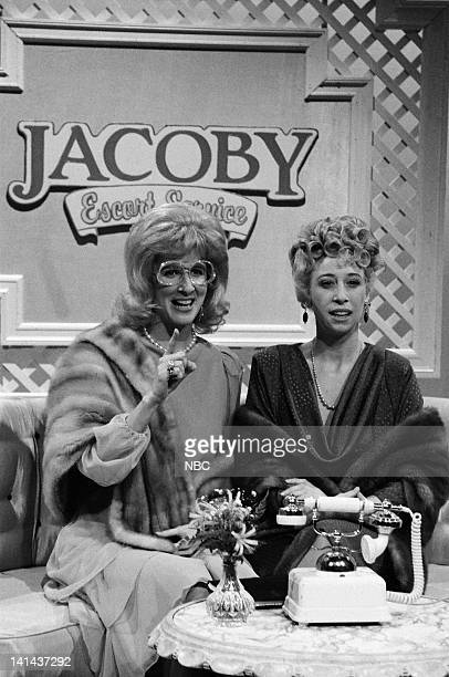 Mary Gross as Rosie and Robin Duke as Luba during the 'Jacoby Escort Service' skit on February 25 1984 Photo by Alan Singer/NBC/NBCU Photo Bank