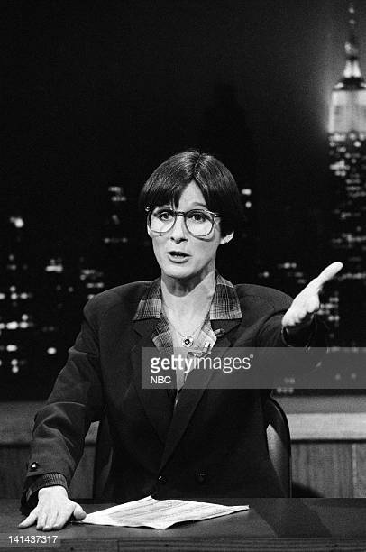 Mary Gross during the 'Saturday Night News' skit on February 25 1984 Photo by Alan Singer/NBC/NBCU Photo Bank
