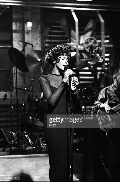 Musical guest Whitney Houston performs on February 23 1991 Photo by Raymond Bonar/NBCU Photo Bank