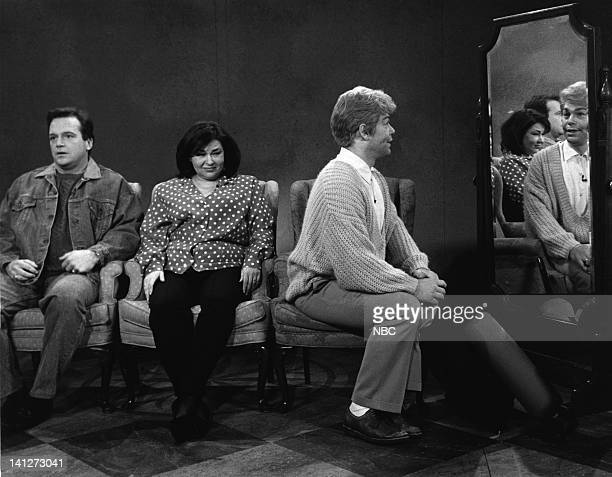 Tom Arnold as Bobby Hensell Roseanne Arnold Barr as Jody Smalley Al Franken as Stuart Smalley during Daily Affirmation skit on February 22 1992 Photo...