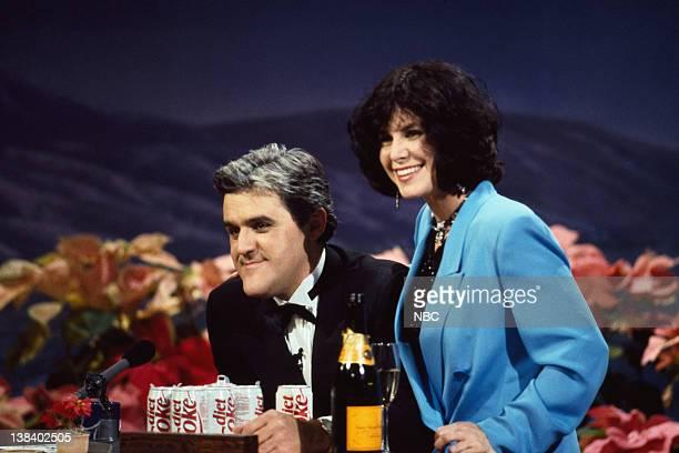 Host Jay Leno with wife Mavis Leno on December 31 1992
