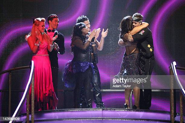 SHOW 'Episode 1404A' The remaining couples waited to see who would be sent home on 'Dancing with the Stars the Results Show' TUESDAY APRIL 10 on the...