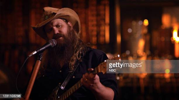 Episode 1406A -- Pictured in this screengrab: Musical guest Chris Stapleton performs on February 10, 2021 --