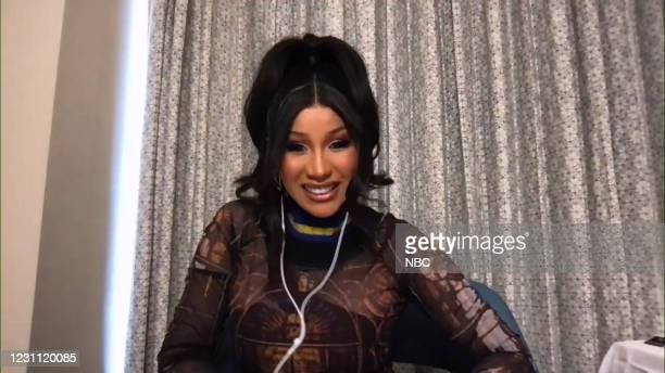 Episode 1407A -- Pictured in this screengrab: Rapper Cardi B during an interview on February 11, 2021 --
