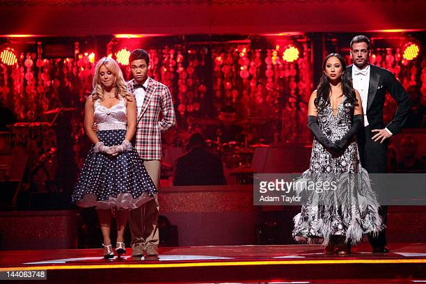 SHOW 'Episode 1408A' The remaining couples waited to see who would be the next couple to go home on 'Dancing with the Stars the Results Show' TUESDAY...