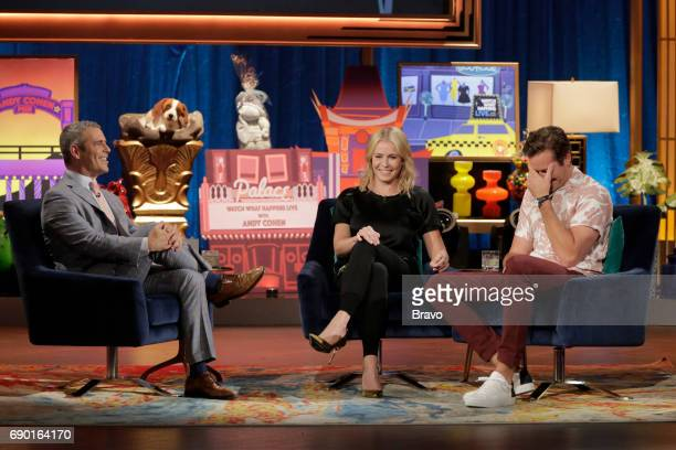 Episode 14096 -- Pictured: Andy Cohen, Chelsea Handler, Armie Hammer --
