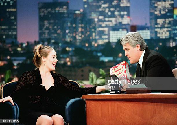 Actress Alicia Silverstone during an interview with host Jay Leno on July 10 1998