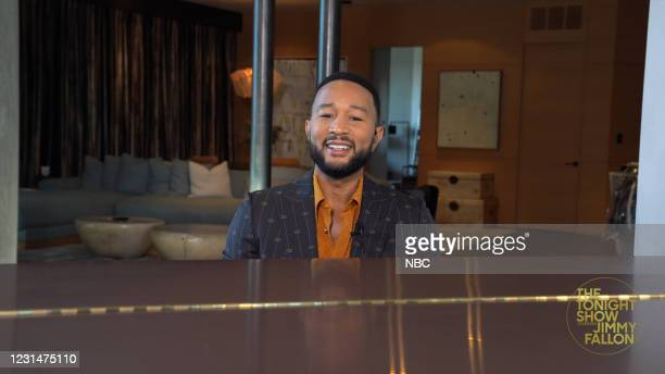 Episode 1414A -- Pictured in this screengrab: Singer John Legend during an interview on March 1, 2021 --