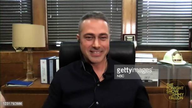 Episode 1426A -- Pictured in this screengrab: Actor Taylor Kinney during an interview on March 17, 2021 --