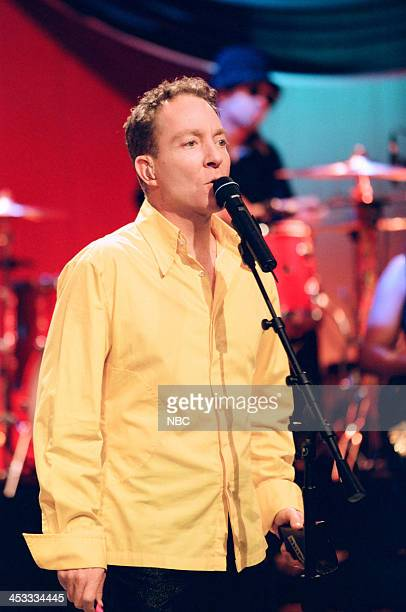 Fred Schneider of musical guest The B52's performs on August 6 1998