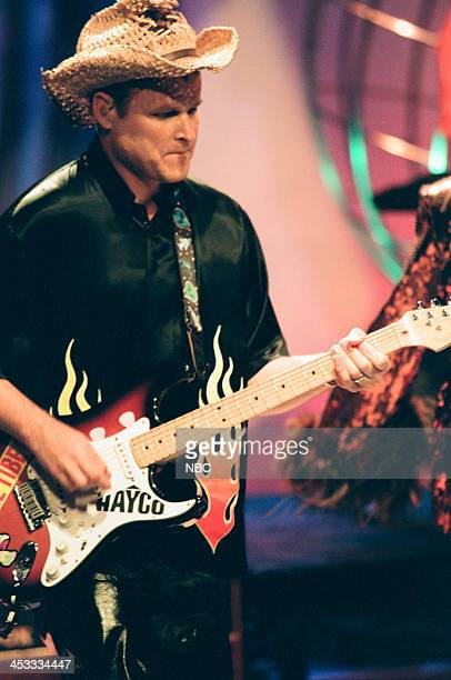 Keith Strickland of musical guest The B52's on August 6 1998