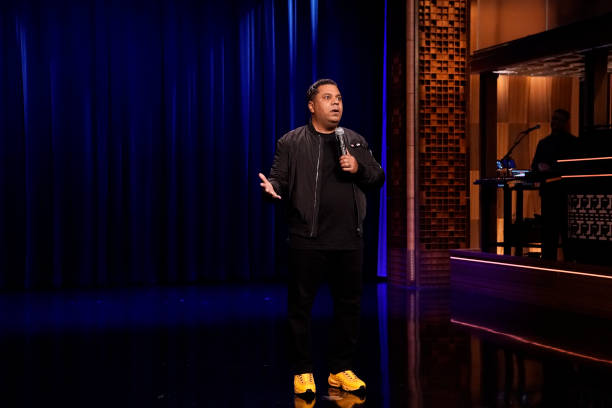 """NY: NBC's """"Tonight Show Starring Jimmy Fallon"""" with guests Ice T, Mike Birbiglia, Comedian Orlando Leyba"""