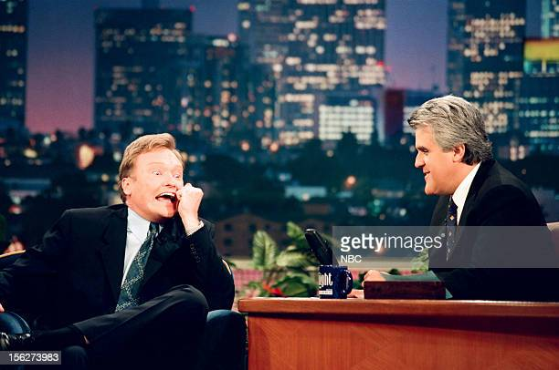 Episode 1450 -- Pictured: Comedian Conan O'Brien during an interview with host Jay Leno on September 14, 1998 --