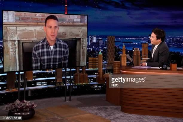 Episode 1456 -- Pictured: Actor Channing Tatum during an interview with host Jimmy Fallon on Wednesday, May 5, 2021 --