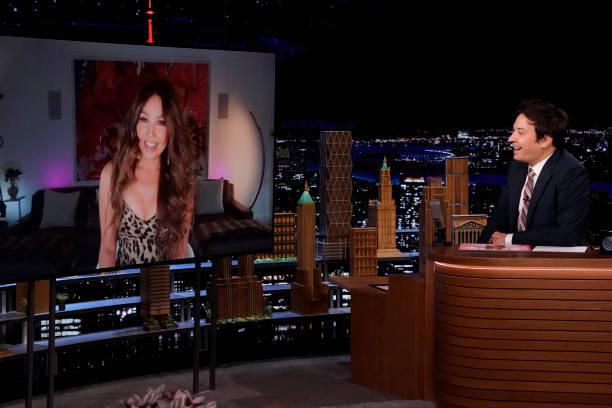 "NY: NBC's ""Tonight Show Starring Jimmy Fallon"" with guests Joel McHale, Thalia, THALIA"