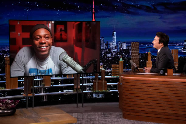 """NY: NBC's """"Tonight Show Starring Jimmy Fallon"""" with guests Dave Chappelle, Nikki Glaser, J. PERIOD feat. BLACK THOUGHT & TIFFANY GOUCHÉ WITH NARRATION BY DAVE CHAPPELLE"""