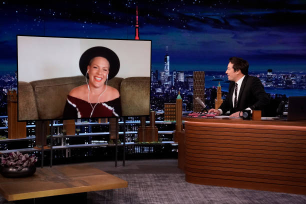 "NY: NBC's ""Tonight Show Starring Jimmy Fallon"" with guests 																							P!nk, Eric Bana, NATTI NATASHA X BECKY G"