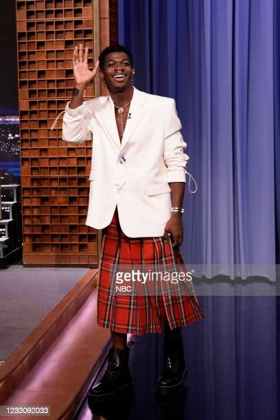 Episode 1469 -- Pictured: Singer Lil Nas X arrives on Monday, May 24, 2021 --