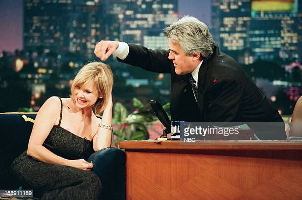 Actress Kate Capshaw during an interview with host Jay Leno on October 26 1998