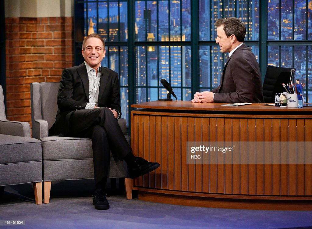 Actor Tony Danza during an interview with host Seth Meyers on January 12, 2015 --