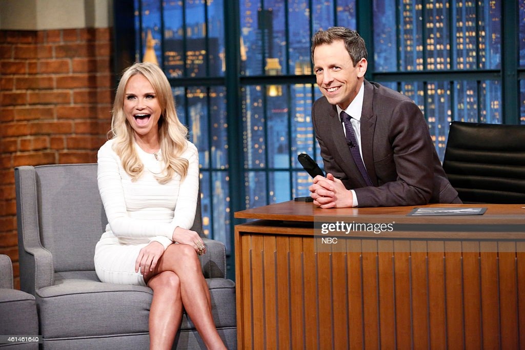 Actress Kristin Chenoweth during an interview with host Seth Meyers on January 12, 2015 --