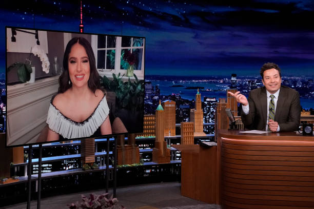 """NY: NBCs """"Tonight Show Starring Jimmy Fallon"""" with guests Salma Hayek, Dr. Anthony Fauci, JESSIE WARE"""