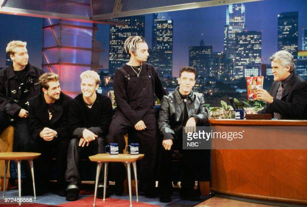 Episode 1483 -- Pictured: Ainsley Harriott and N'Sync's Lance Bass, Joey Fatone, Justin Timberlake, Chris Kirkpatrick, and JC Chasez during an...