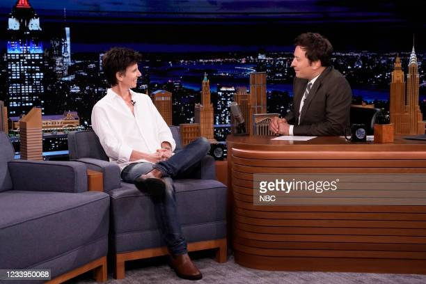 Episode 1488 -- Pictured: Comedian Tig Notaro during an interview with host Jimmy Fallon on Monday, July 12, 2021 --