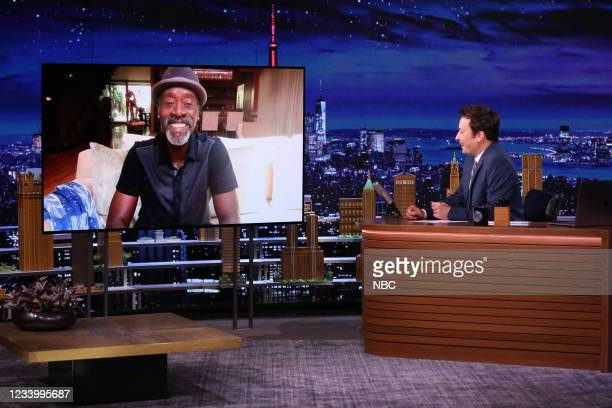 Episode 1490 -- Pictured: Actor Don Cheadle during an interview with host Jimmy Fallon on Wednesday, July 14, 2021 --