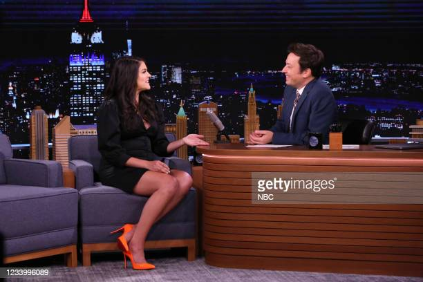 Episode 1490 -- Pictured: Actress Cecily Strong during an interview with host Jimmy Fallon on Wednesday, July 14, 2021 --