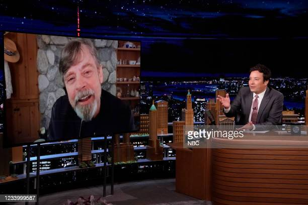 Episode 1491 -- Pictured: Actor Mark Hamill during an interview with host Jimmy Fallon on Thursday, July 15, 2021 --