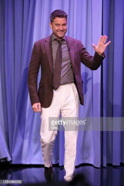 Episode 1492 -- Pictured: Actor Joshua Jackson arrives on Monday, July 19, 2021 --