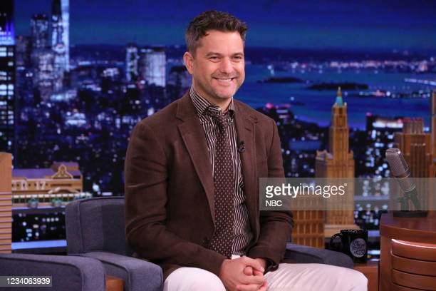 Episode 1492 -- Pictured: Actor Joshua Jackson during an interview on Monday, July 19, 2021 --