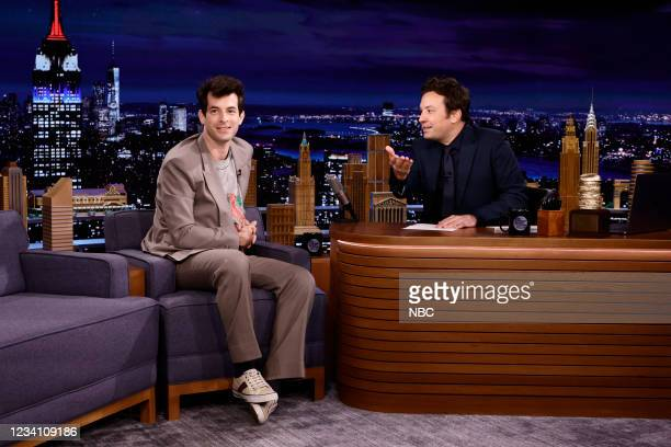 Episode 1494 -- Pictured: Record producer Mark Ronson during an interview with host Jimmy Fallon on Wednesday, July 21, 2021 --