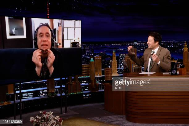 Episode 1495 -- Pictured: Actor Fred Armisen during an interview with host Jimmy Fallon on Thursday, July 22, 2021 --