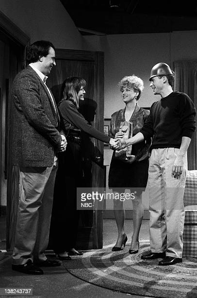 LIVE Episode 15 Air Date Pictured Kevin Nealon as Jerry Wheeler Jan Hooks as Wendy Wheeler Victoria Jackson as wife Rob Lowe as Don during the Helmet...