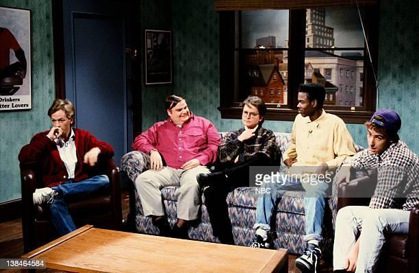 LIVE Episode 15 Aired Pictured David Spade as guest Chris Farley as Jimbo Michael J Fox as Steve Charlton Chris Rock as guest Adam Sandler as guest...