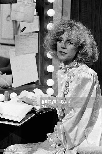 LIVE Episode 15 Aired Pictured Blythe Danner during the 'Help Blythe Danner' skit on March 27 1982
