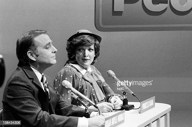 LIVE Episode 15 Aired Pictured Brian DoyleMurray Christine Ebersole as Princess Di during the Meet The People skit on March 27 1982
