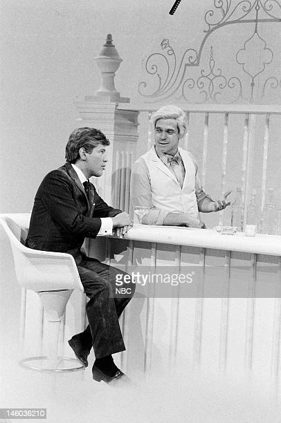 Billy Crystal as John F Kennedy and Joe Piscopo as St Peter during the 'God's Place' skit on March 17 1984