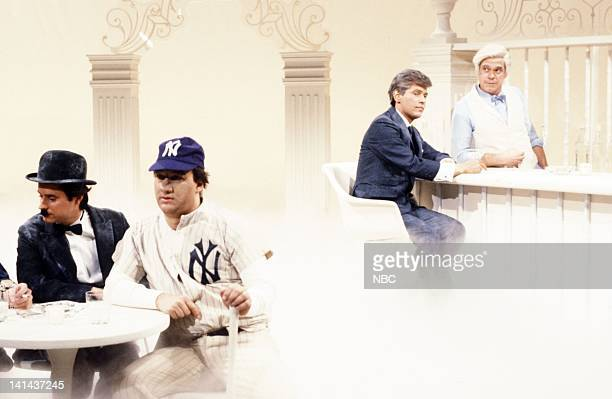 Brad Hall as George Washington Gary Kroeger as Charlie Chaplin Jim Belushi as Babe Ruth Billy Crystal as John F Kennedy and Joe Piscopo as St Peter...