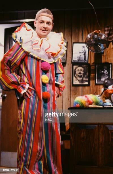 Michael J Fox as Jasper during the 'Jasper The Stinging Clown' skit on March 16 1991
