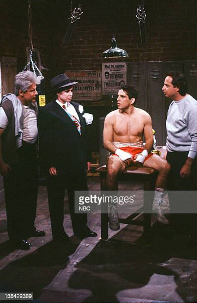 Phil Hartman as Walnuts Mary Tyler Moore as Big Mary Ben Stiller as Gloverboy Selvaggi Jon Lovitz as Ace during the 'Requiem For Death' skit on March...