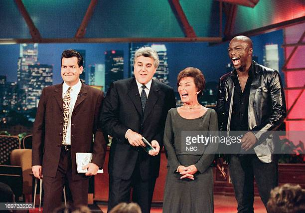 Actor Charlie Sheen host Jay Leno Judge Judy Sheindlin musician Seal on December 3 1998